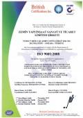 Zemin Yapı ISO 9001:2008